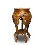 Beistelltisch Nachttisch Rundhocker Pflanzenhocker Rund Barock Orientalisch ca. 62cm Holz 001