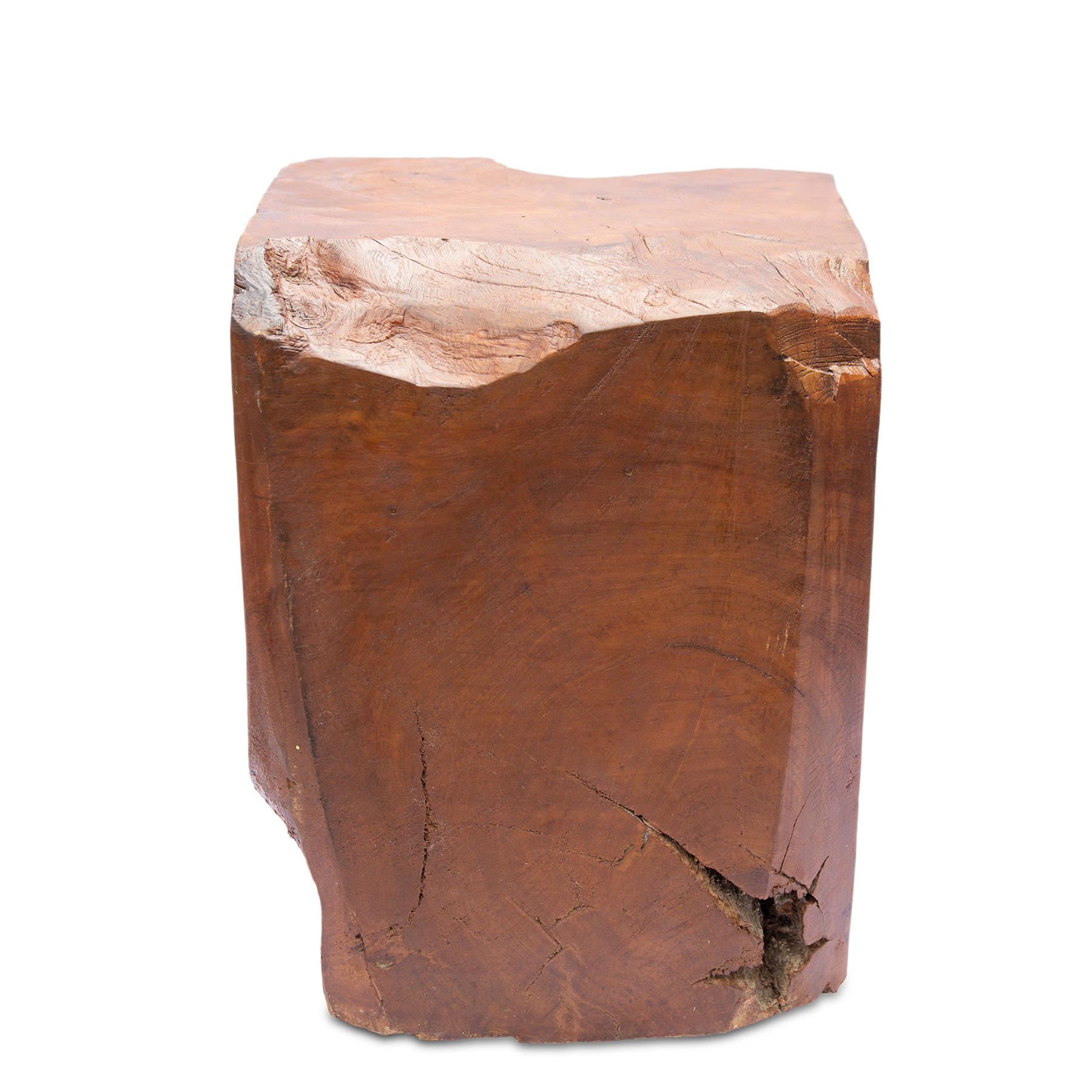 Teak Hocker ca. 38cm hoch Pfanzenhocker Beistelltisch Massiv Wurzelholz – Bild 5