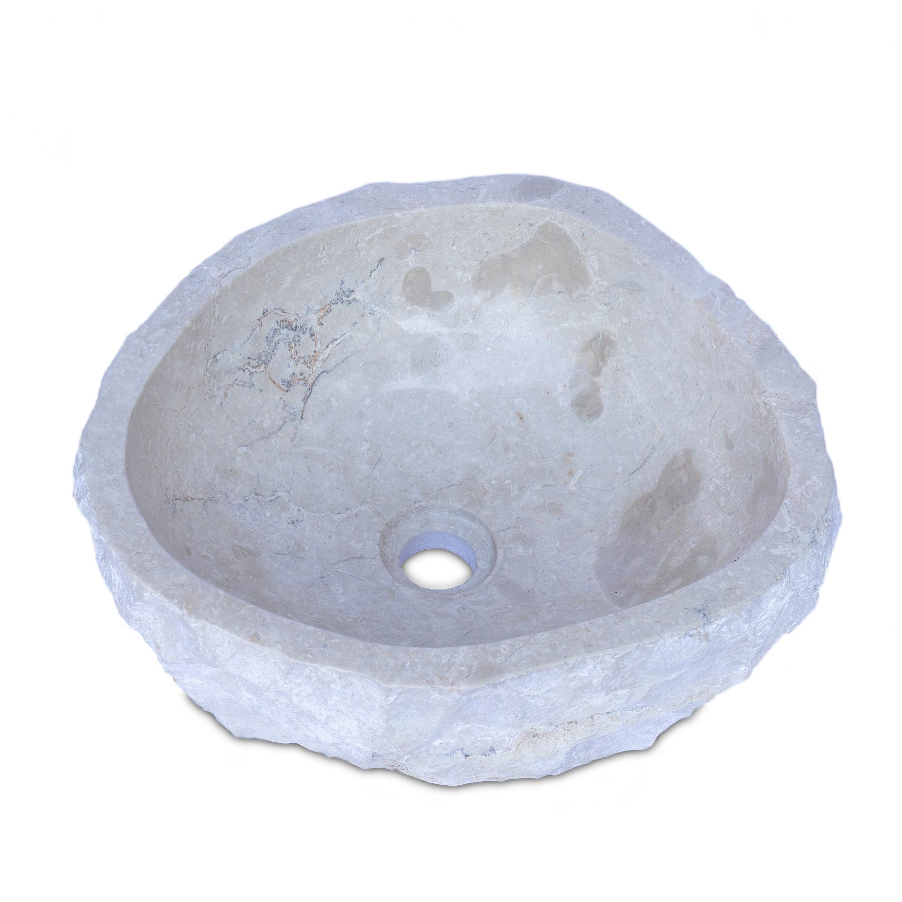 Waschbecken Marmor Hell | Handwaschbecken Waschschale Aufsatzwaschbecken Massiv Naturstein