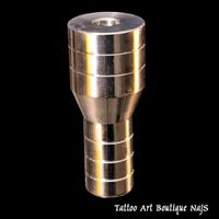 Stainless Steel Tattoo Grip, polished, 5 Rings. High Quality. USA. Attention! Imperial Thread! Diameter 25 mm blunted to 19 mm