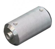Stainless Steel Tattoo Grip, knurled, 5 Rings, Diameter 25 mm. High Quality. USA. Attention! Imperial Thread!