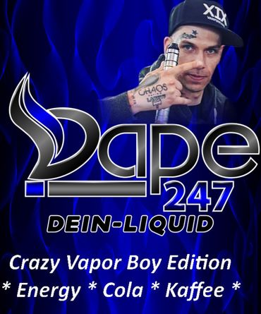 Crazy Vapor Boy ECK - Premium 100ml Boosted Liquid Shortfill 6666 Energy Cola und Kaffee