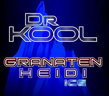 Vape247 Dr. Kool - Granaten-Heidi - Premium 100ml Boosted Liquid Shortfill 8888