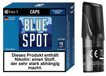2x BLUE SPOT BLAUBEERE - SC Easy 3 Caps / Pods - 9 / 18mg/ml - (2er Pack)