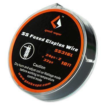 GeekVape 3 Meter DIY Fused Clapton SS316L Wire 24GAx2/32GA Wickeldraht