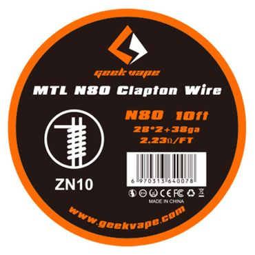 MTL Wickeldraht N80 Clapton 28GAx2 + 38GA 3 Meter - Geekvape