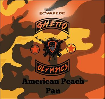 American Peach Pan - Aroma Shot Longfill 10ml in 60ml Flasche - Ghetto Olympics