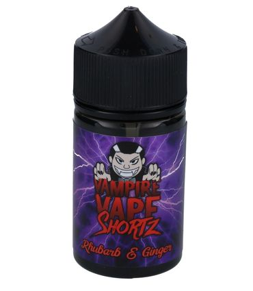 Rhubarb & Ginger - Vampire Vape SHORTZ - 50ml BOOSTED Liquid in 70ml Flasche