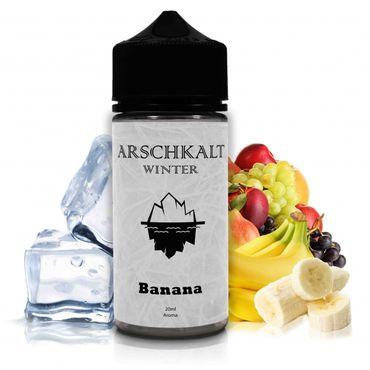 Arschkalt Banana Winter-Edition - 20ml Aroma in 100ml Chubby Longfill  - Art Of Smoke