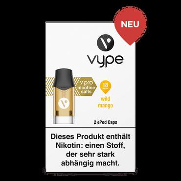 2x Wild Mango - Vype ePod Caps vPro18mg/ml 2x 1,9ml (2er Pack) - VYPE