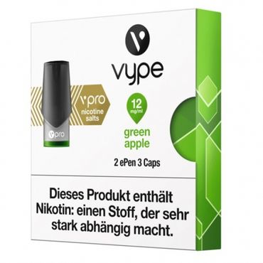 2x Green Apple Caps vPro für ePen3 - Vype