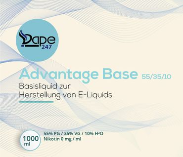 Vape247 Liquid Base Advantage 1000ml 0mg 55 PG:35 VG:10 H²O - Deutsche Herstellung