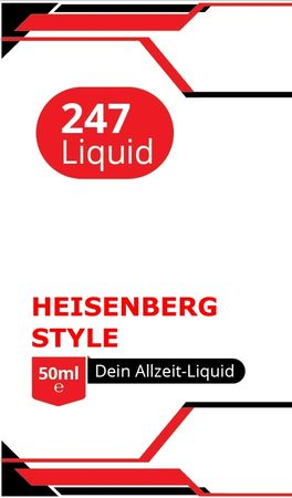 Vape247 HEISENBERG Style Boosted Liquid PLUS - überdosiert 50ml