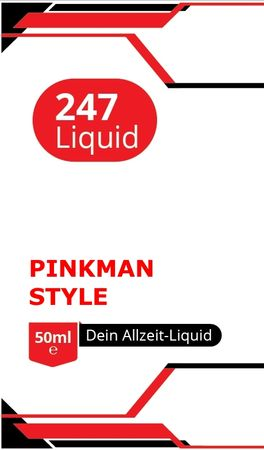 Vape247 PINKMAN Style Boosted Liquid PLUS - überdosiert 50ml