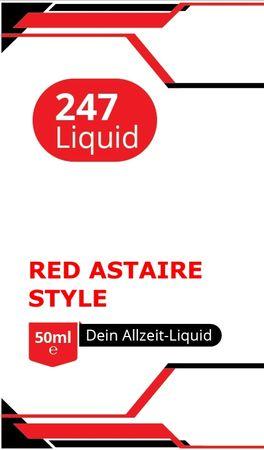 Vape247 RED ASTAIRE Style Boosted Liquid PLUS - überdosiert 50ml
