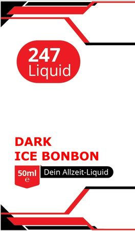 Vape247 DARK ICE BONBON -  Boosted Liquid PLUS - überdosiert 50ml