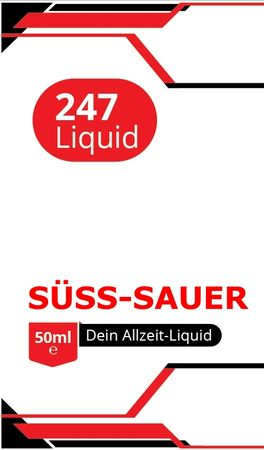 Vape247 SÜSS-SAUER -  Boosted Liquid PLUS - überdosiert 50ml