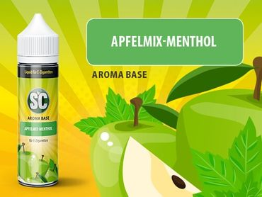 Apfel-Mix - Menthol - SC Boosted Liquid PLUS Shake ´n Vape  - überdosiert 50ml