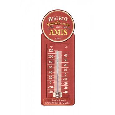 Innen-Aussen-Thermometer Retro Bistrot des amis