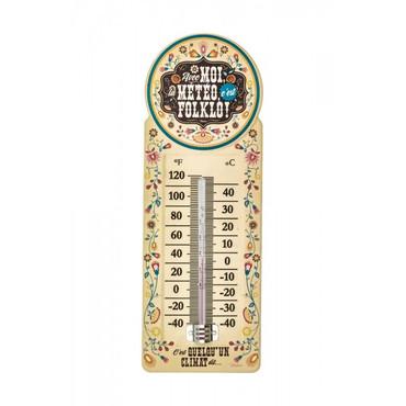 Innen-Aussen-Thermometer Retro Folklo