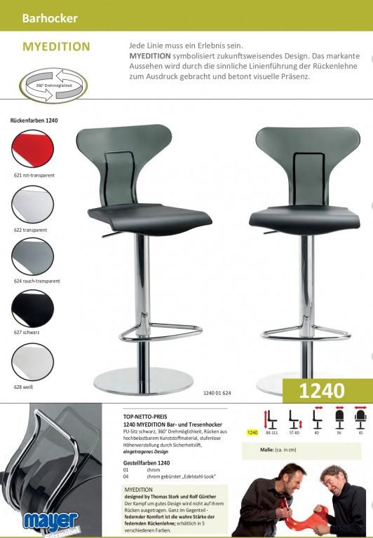 Design Barhocker Tresenhocker Mit Liftmechanik Mayer My Edition 1240