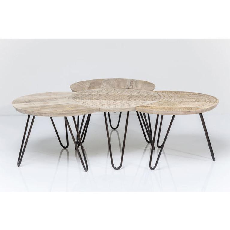 couchtisch tisch beistelltisch wohnzimmertisch puro 4 set 81612 kare design kleinm bel. Black Bedroom Furniture Sets. Home Design Ideas