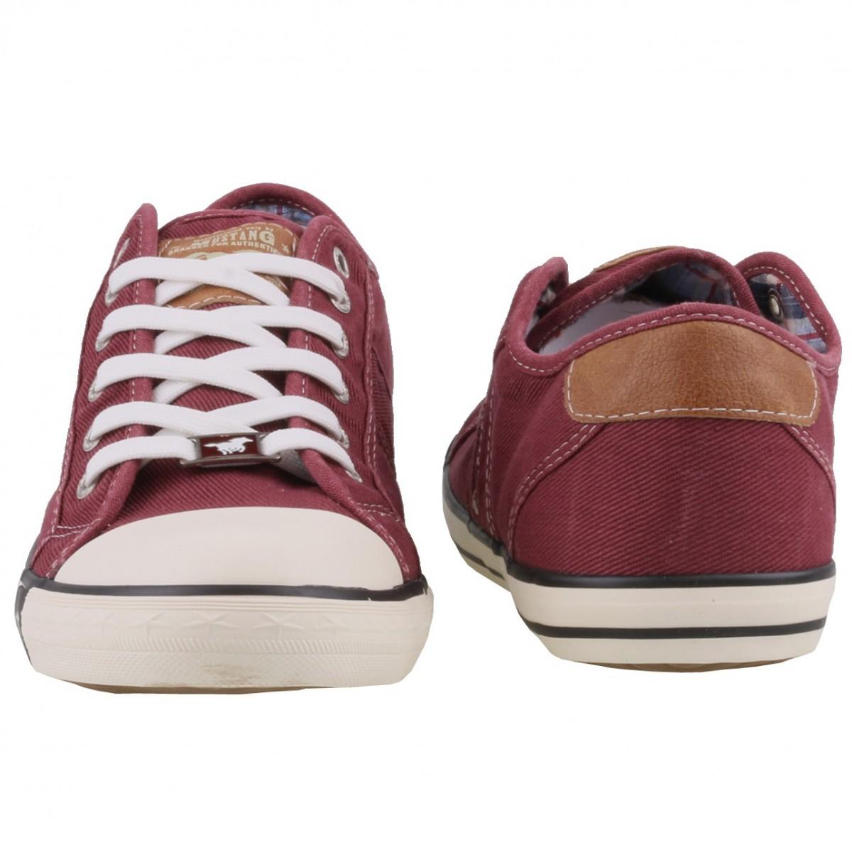 separation shoes 92244 0daaf Mustang Damen Canvas Sneaker Bordeaux