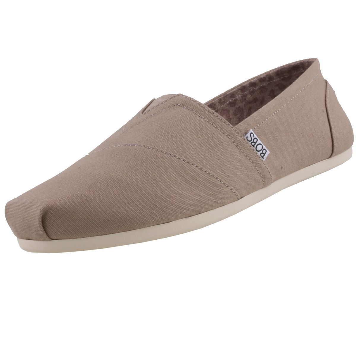 Skechers Bobs Damen Slipper Plush PeaceLove Beige  Black