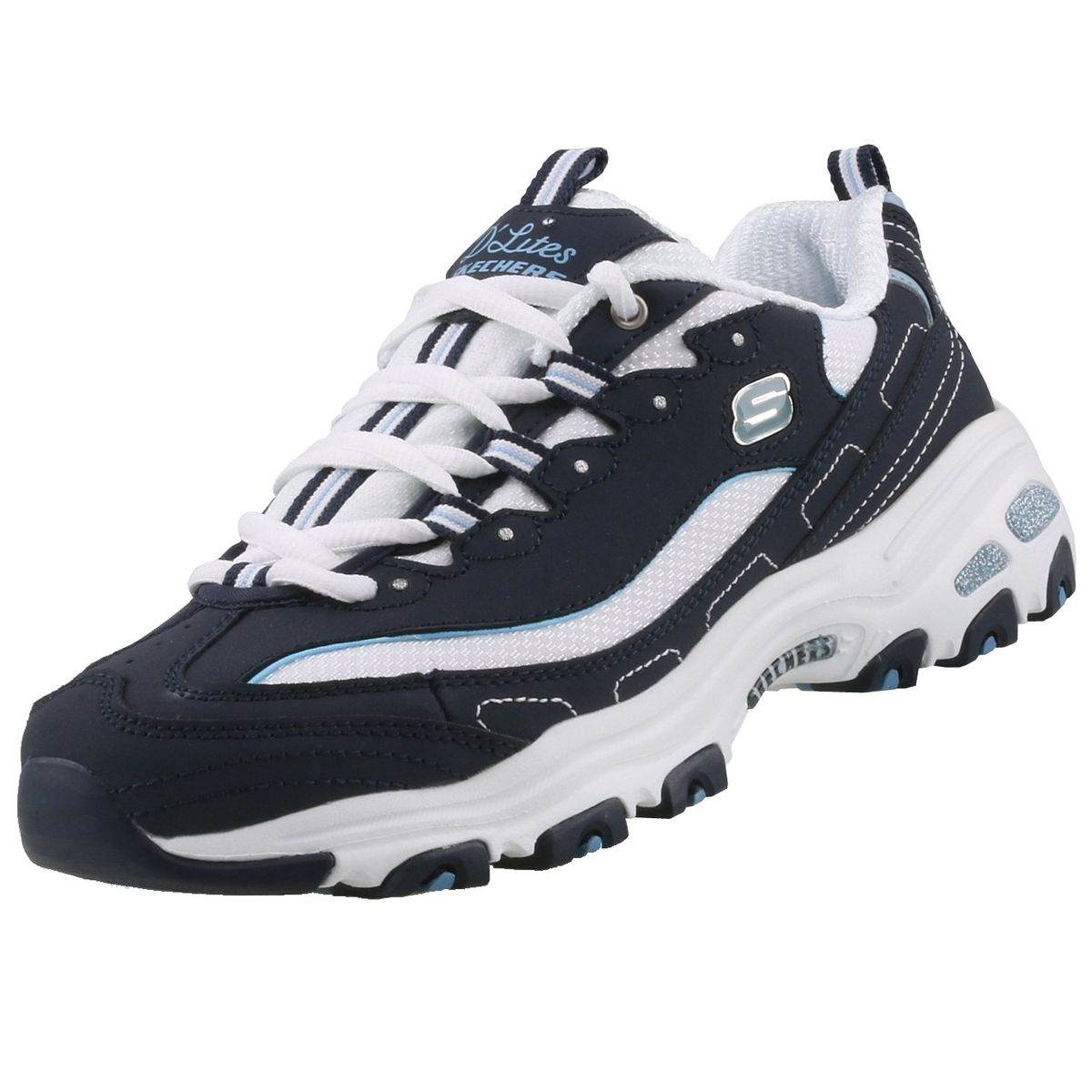 first rate sale uk cheap for discount Skechers Damen Sneaker D´Lites BIGGEST FAN Blau/Weiß | Trendbereich