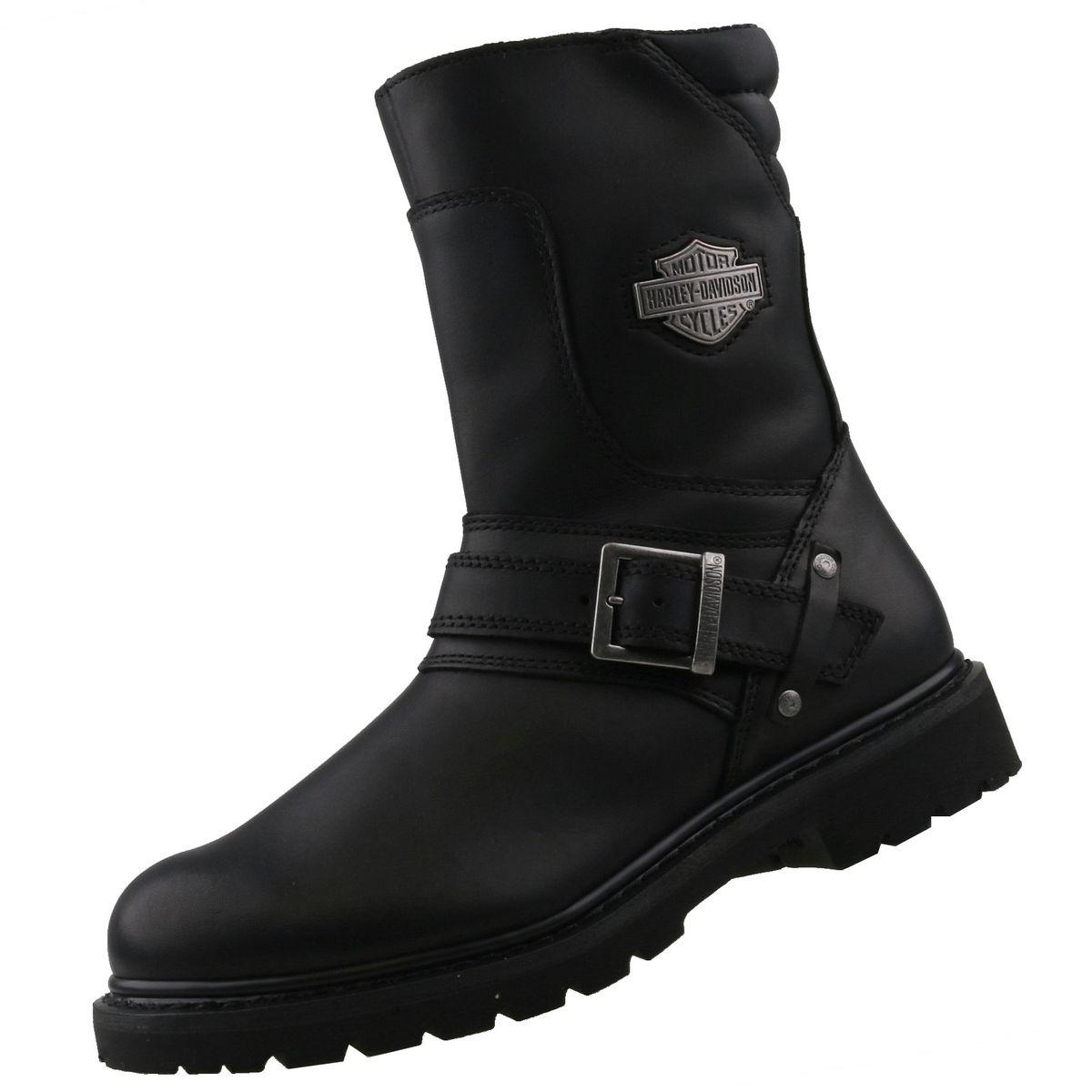 Details zu NEU Harley Davidson Herrenschuhe Schuhe Engineer Herrenstiefel Biker Boots Leder