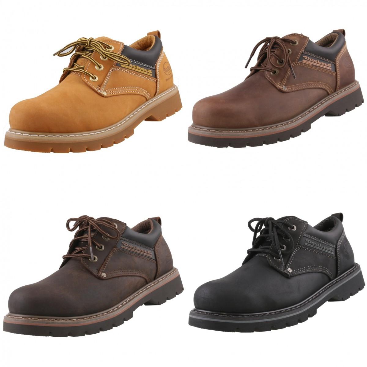 Details zu DOCKERS rahmengenähte Herrenschuhe Boots Leder Schuhe Halbschuhe Schnürschuhe
