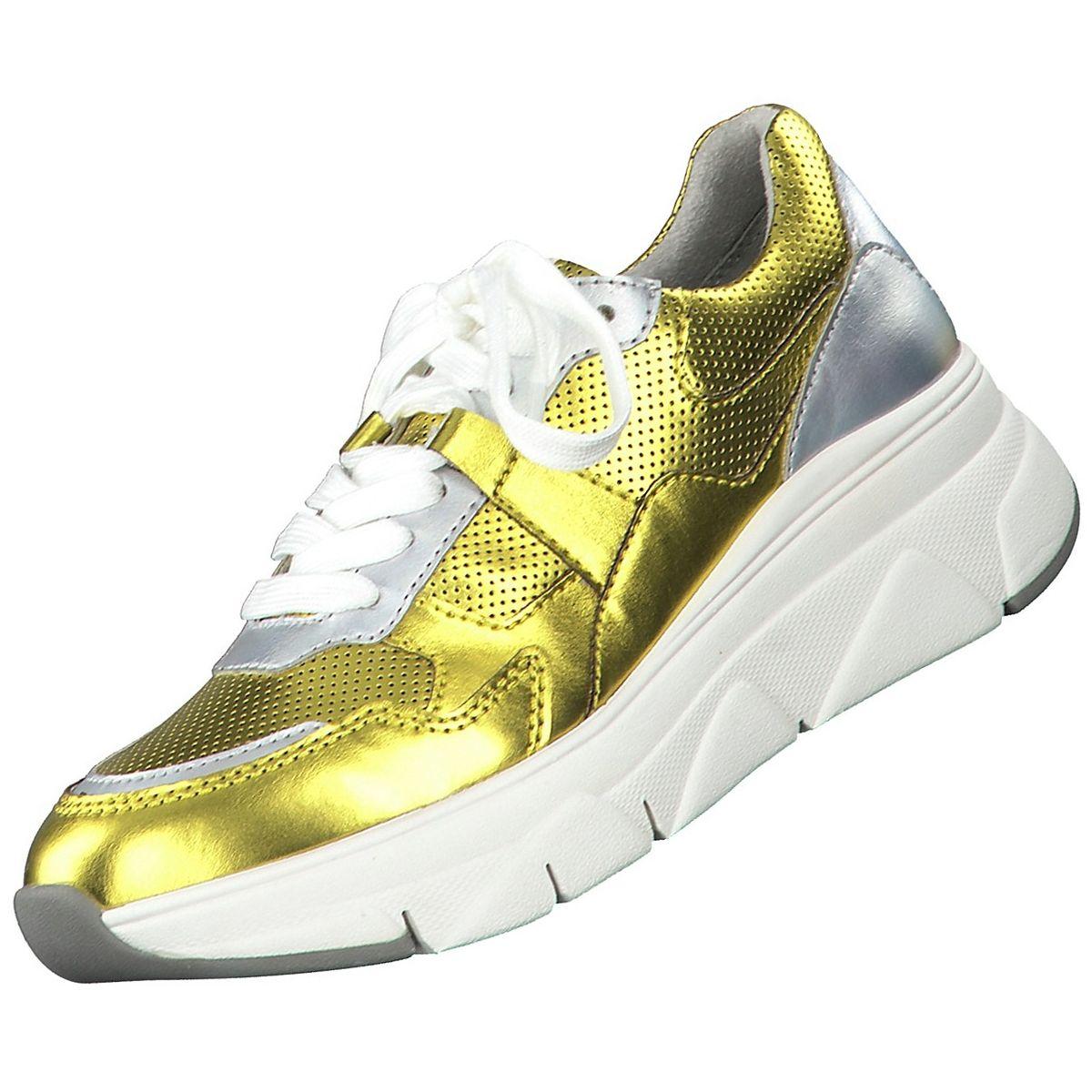 TAMARIS Damen Sneaker Gelb Metallic | Trendbereich