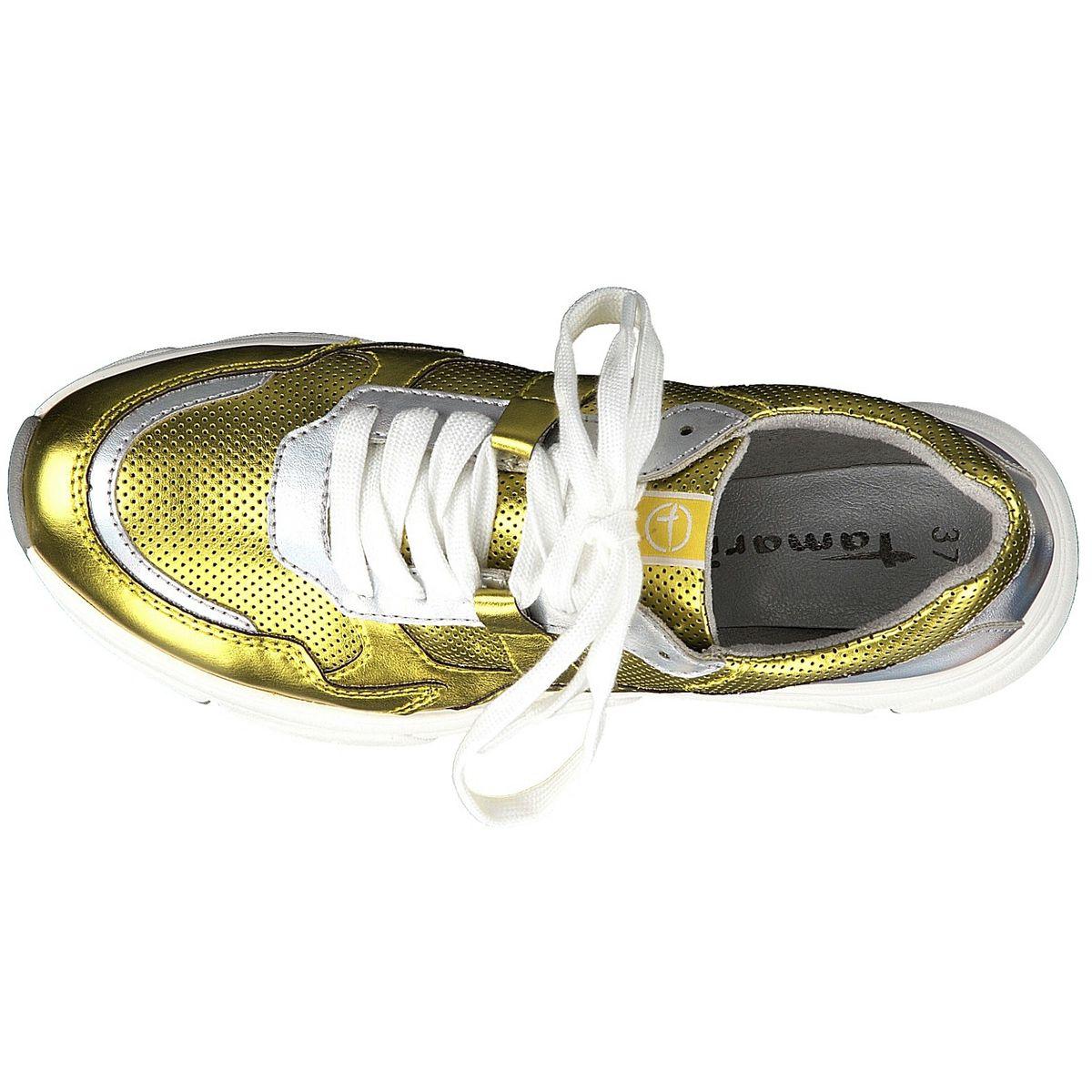 TAMARIS Damen Sneaker Gelb Metallic