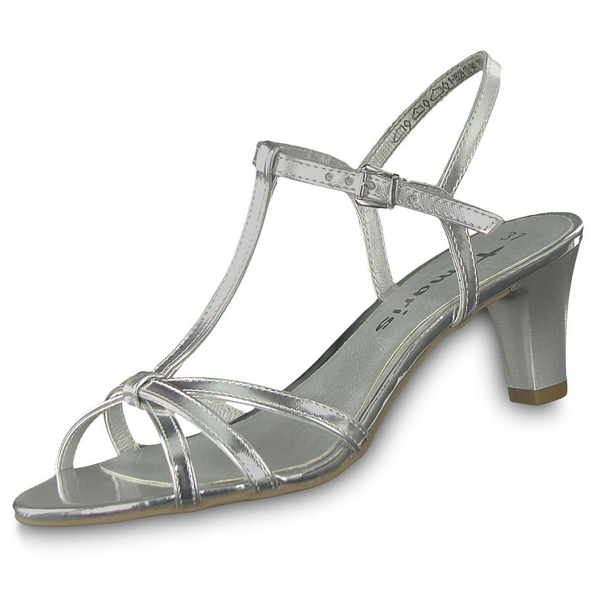 Tamaris Damen Sandaletten Silber | Trendbereich