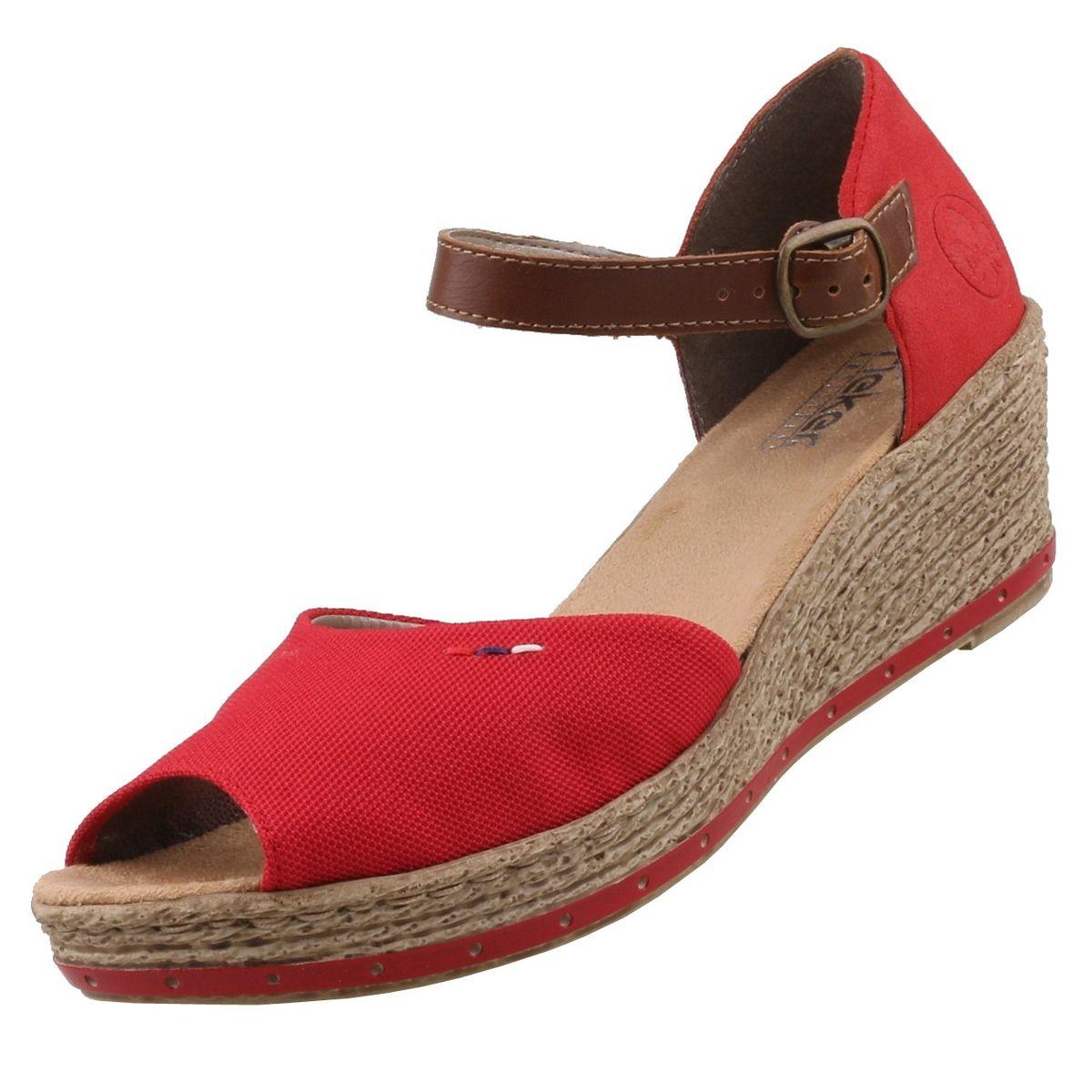 Rieker Damen Sandalen Rot | Trendbereich