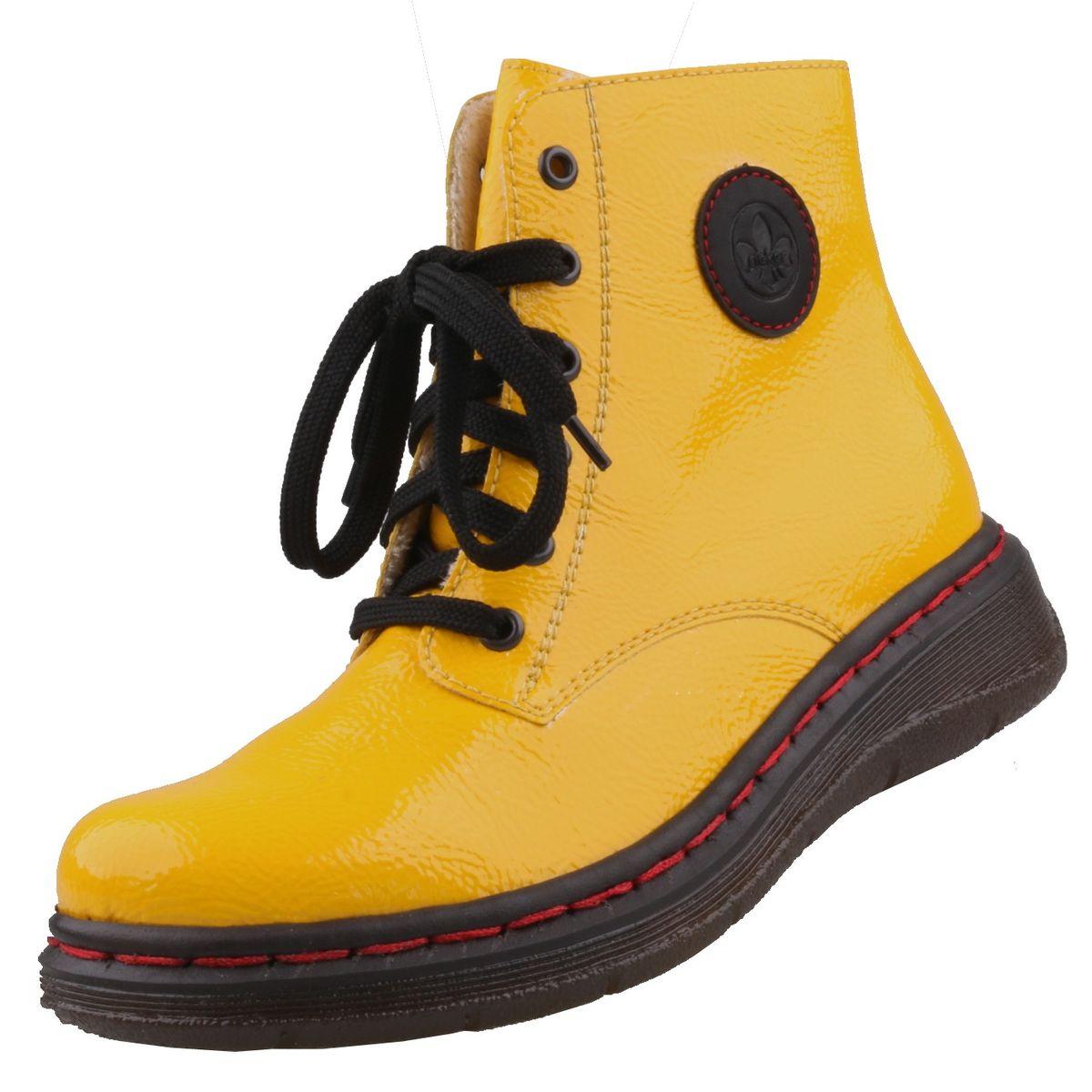Rieker Damen Stiefeletten Gelb | Trendbereich