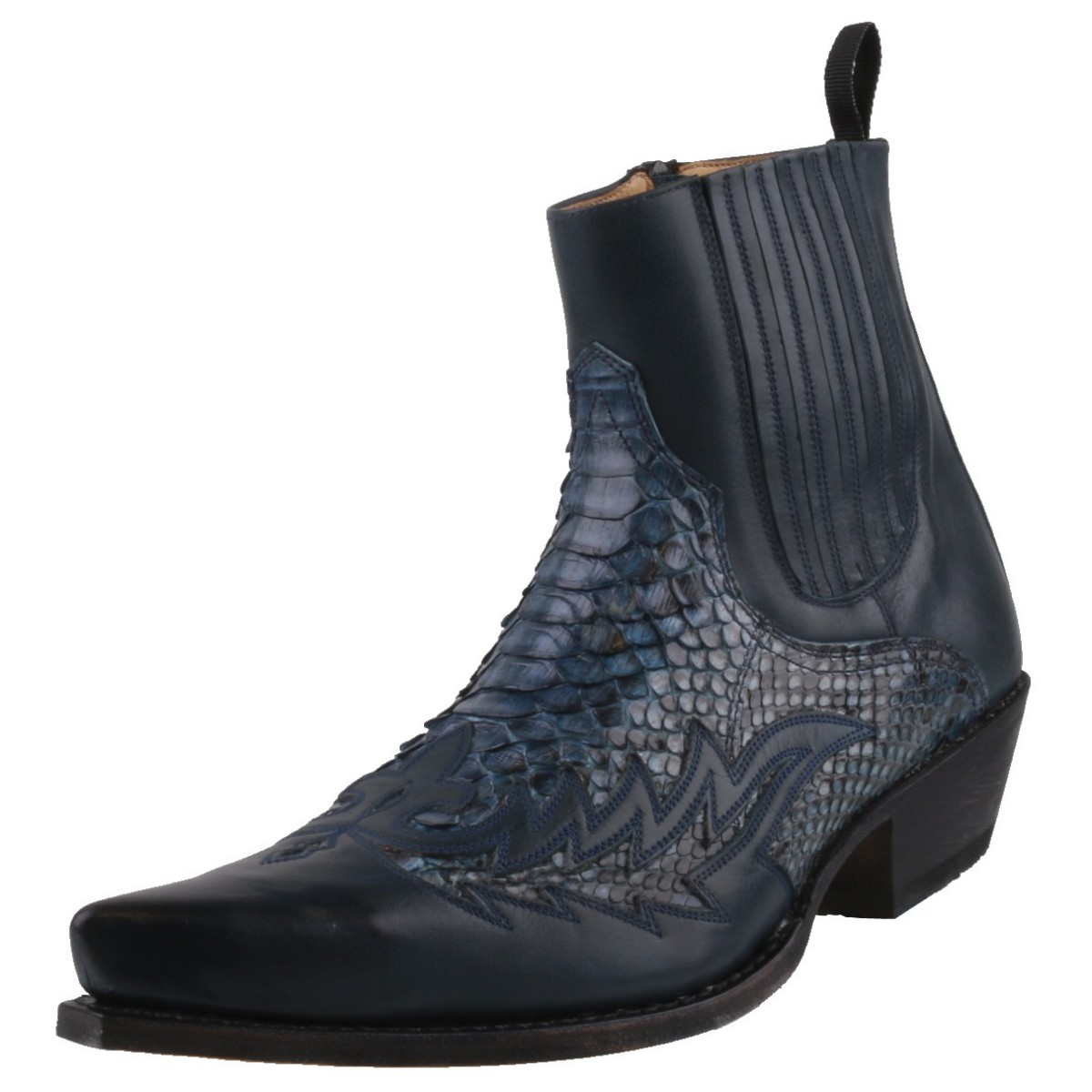 Mens Leather High Zip Shoes Uk