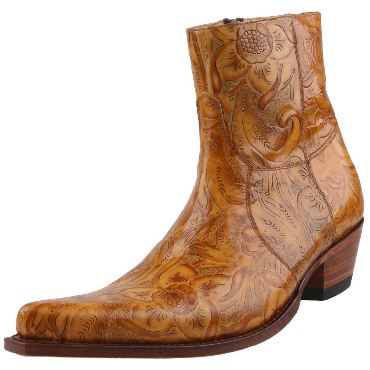 Details zu Neu SENDRA BOOTS Herren Stiefel Stiefelette Westernstiefel Leder Schuhe Braun