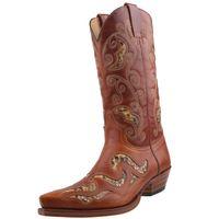 Sendra Pythonleder Cowboystiefel 7490 braun