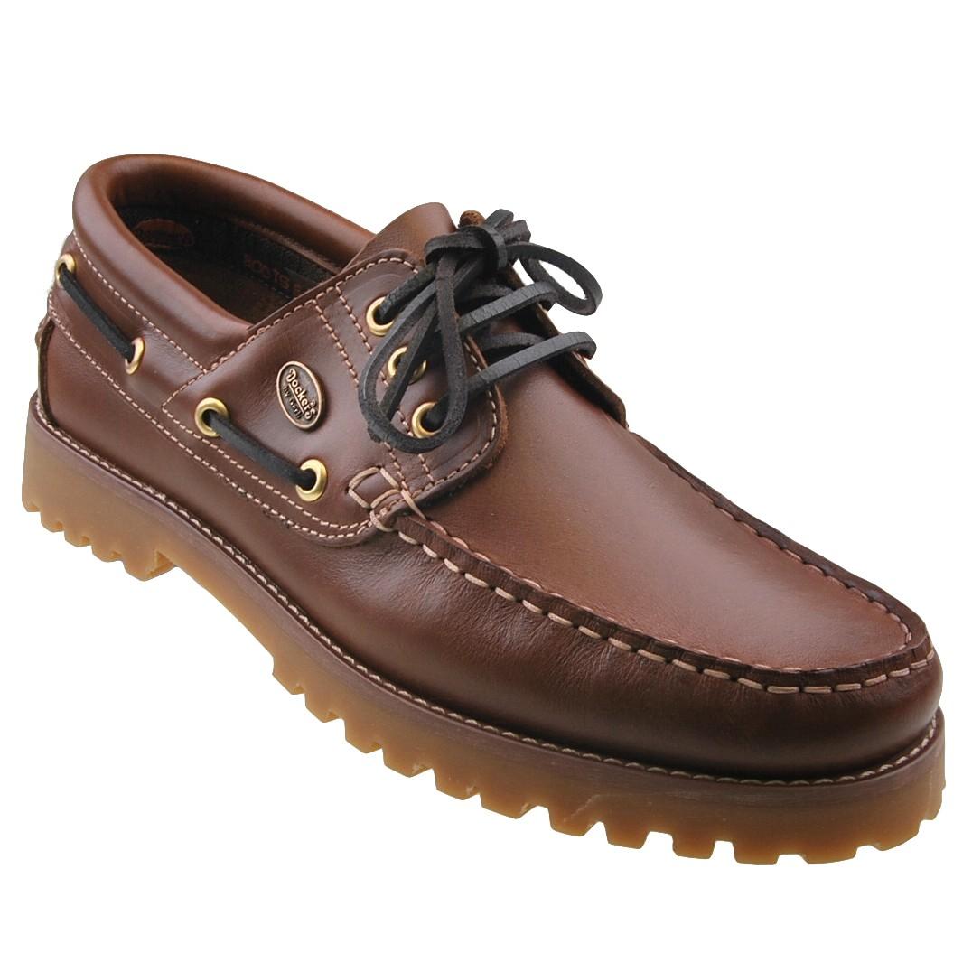 DOCKERS-LEDER-Segelschuhe-Herrenschuhe-Bootsschuhe-Mokassins-Halbschuhe-Schuhe