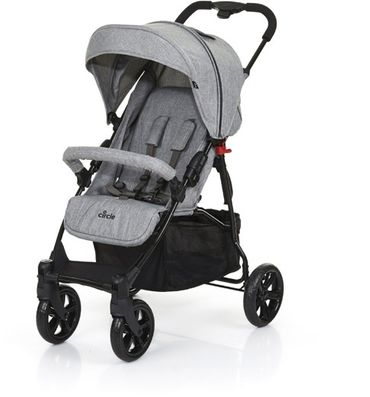 ABC-DESIGN Buggy Circle Treviso 4 Woven Grey Grau  Melange – Bild 1