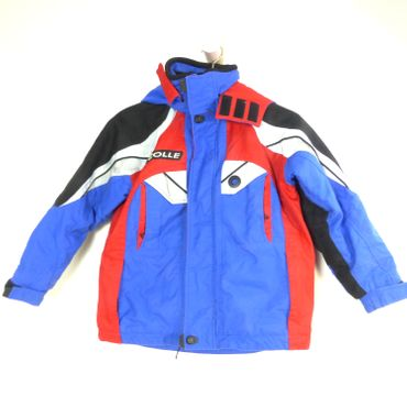 COLLE Jacke Ski Winter Racing Team Blau Rot Gr. 8 128 (HG300)