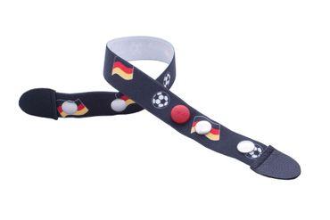 Clip.Ho Gürtel Ohne Verschluss Fußball Fahne Schwarz WM Gr. 92 - 116