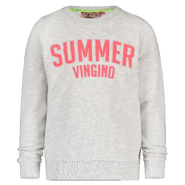 VINGINO Sweatshirt Niena Light Grey Melange Grau Summer  Gr. 16 176 (U15688)