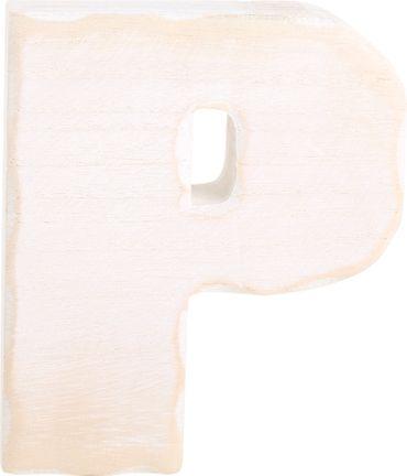 LEGLER Holzbuchstabe P Weiß Shabby Holz 3D Dekoration Größe 15 cm