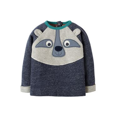 FRUGI Sweatshirt Forest Friend Indigo Terry Raccoon Gr. 62 68