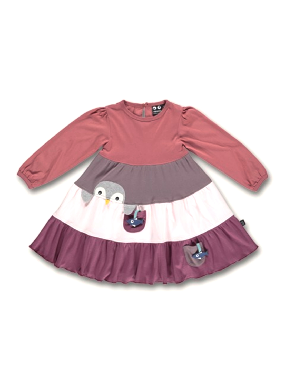 UBANG Kleid Jerseykleid Penguin Dress Faded Rose Gr. 104 ...