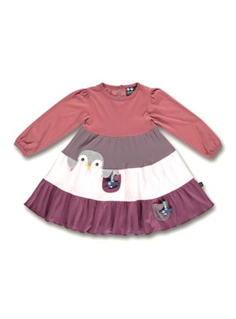 UBANG Kleid Jerseykleid Penguin Dress Faded Rose Gr. 104