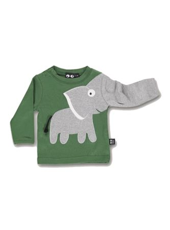 UBANG Shirt Longsleeve Baby Elefant Hedge Green Gr. 74