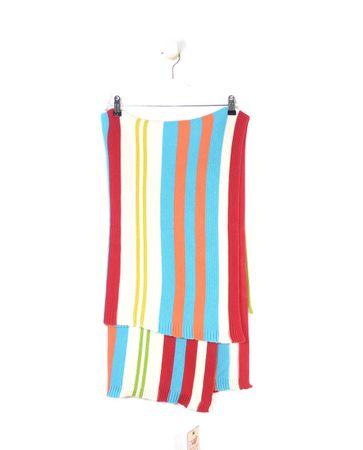 ROOM SEVEN Tagesdecke Strickdecke Häkeldecke Boys Multicolor Stripe Knit Blanket